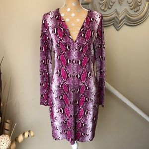 Diane Von Furstenberg snakeskin dress size 12